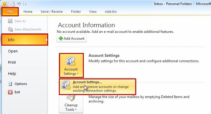 Outlook 2010 - Tutorial 1
