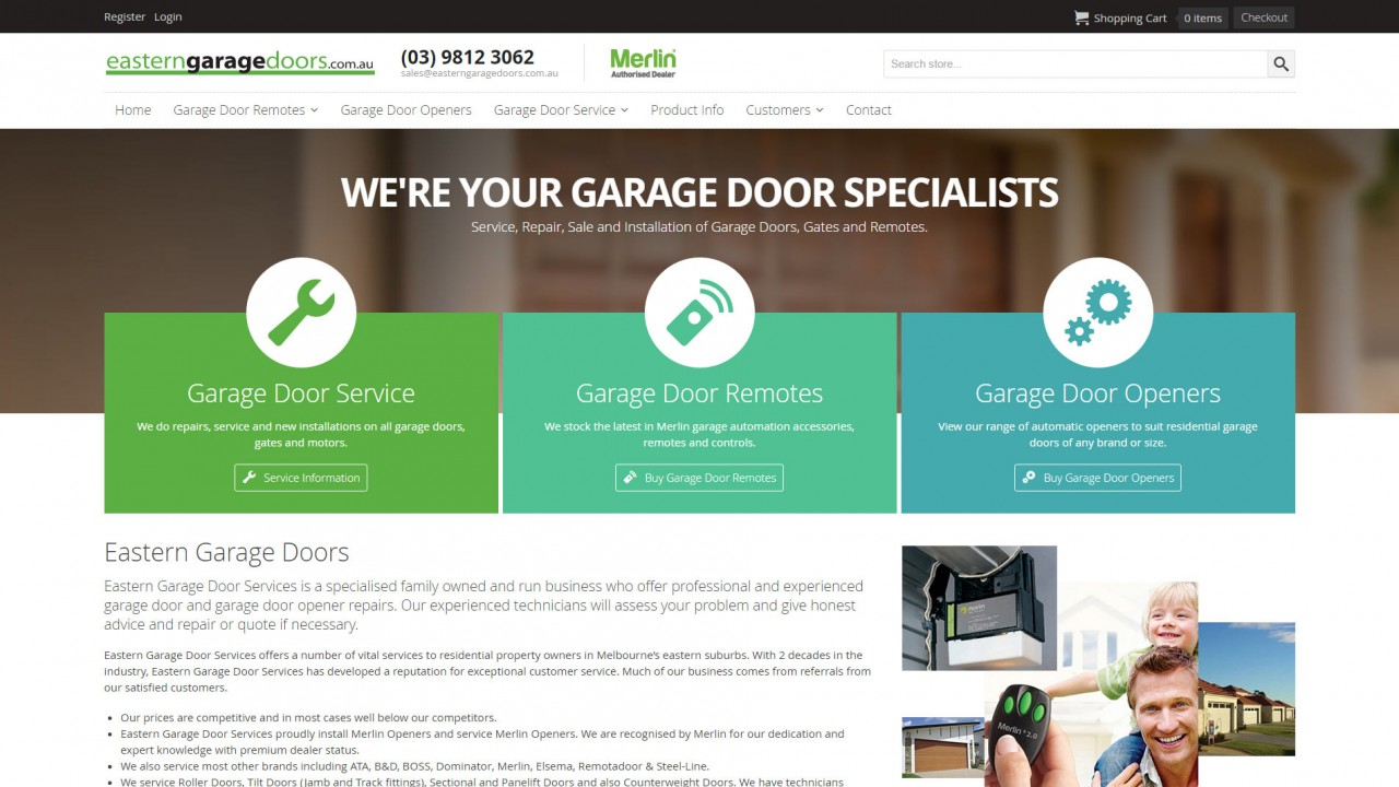 Eastern Garage Doors Online Shopping Website
