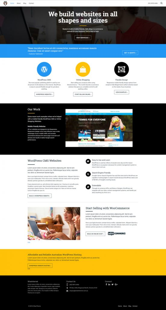 WiseInternet WordPress Responsive Theme